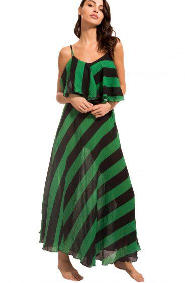 Maxi Dress Striped Agogoa - 1