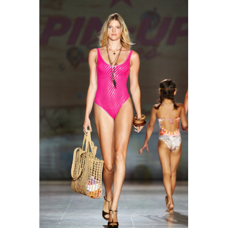 One Piece Swimsuit Tulle with Paillettes