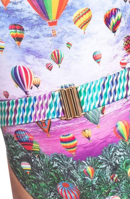 Costume da Bagno Intero Sgambato Balloons Pin-Up Stars - 4