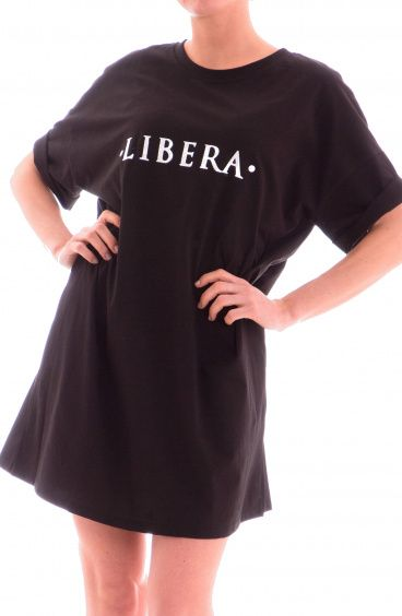 4928cc47d2 Over T-Shirt dress Libera Size M Color Black