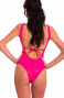 One Piece Swimsuit Tulle with Paillettes Pin-Up Stars - 2