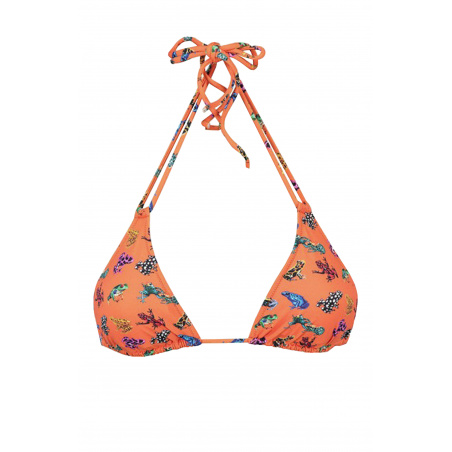 Sliding Bra Nilo Triangle with double strings Frogs multicolor