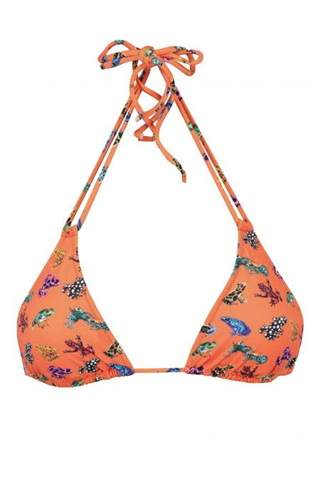 Sliding Bra Nilo Triangle with double strings Frogs multicolor Poisson D'Amour - 1