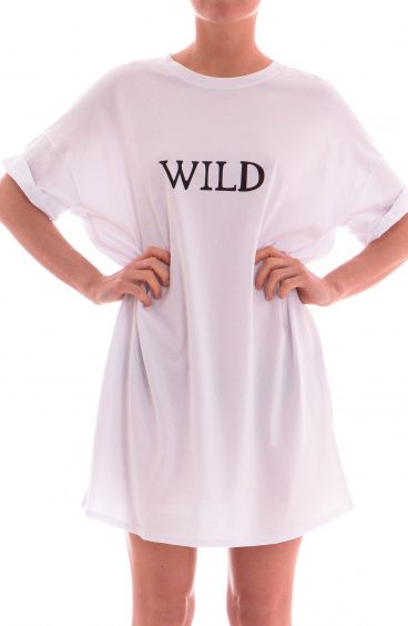 24015457c5 Over T-shirt dress Wild Size S Color White