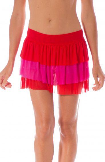 Tulle Short Skirt with Ruffles