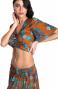 Blusa Incrociata Stampa Indian Pin-Up Stars - 3