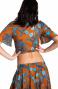 Blusa Incrociata Stampa Indian Pin-Up Stars - 2