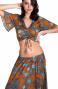 Blusa Incrociata Stampa Indian Pin-Up Stars - 1