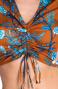 Blusa Incrociata Stampa Indian Pin-Up Stars - 4