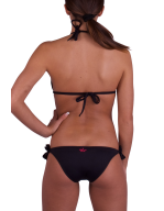 Bikini a triangolo ricamo Gerbera Fluo