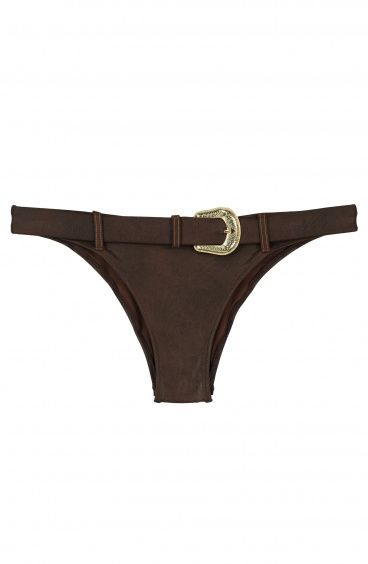 Brief With Belt Leather Series Poisson D'Amour - 1