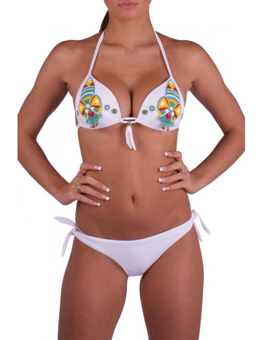 Bikini Triangolo push-up con ricamo Jais