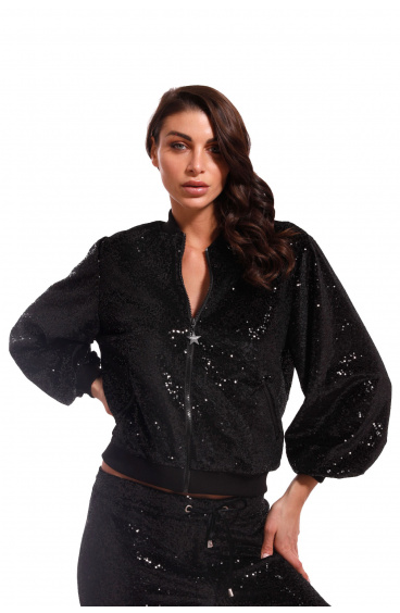Bomber In Sequins Pin-Up Stars - 1