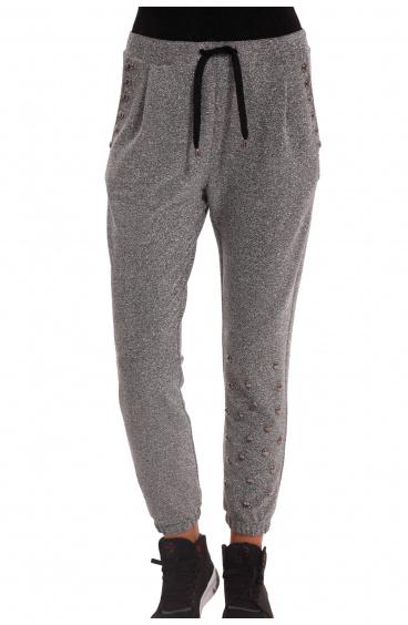 Pantalone In Lurex Con Borchie Pin-Up Stars - 1