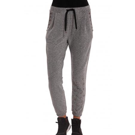 Pantalone In Lurex Con Borchie