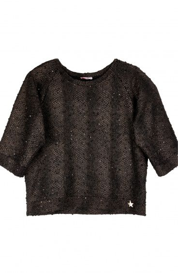 Oversize Sweater with Raglan Sleeves Pin-Up Stars - 3