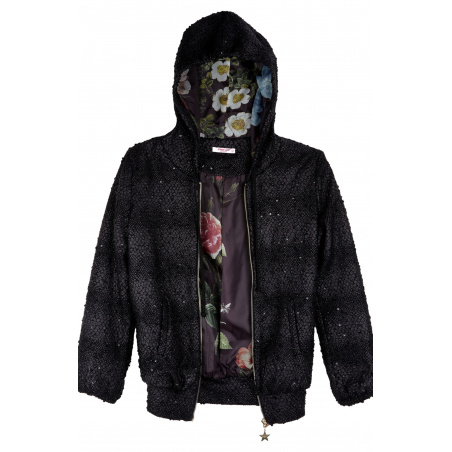 Hoodie with Snake Flakes Fabric
