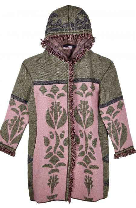 Folk coat with Hoodie Pin-Up Stars - 1
