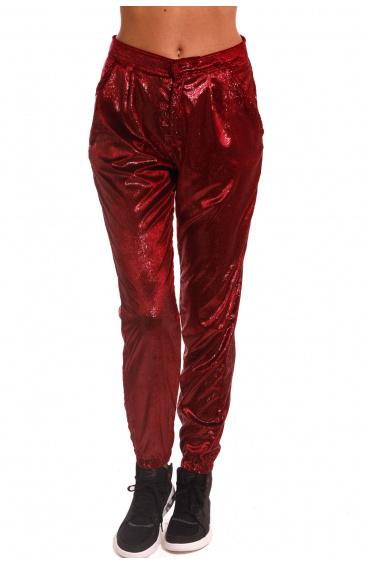 Pantalone Gym Velvet Shiny Pin-Up Stars - 1