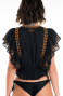 Blusa Etnic Embroidery Pin-Up Stars - 6