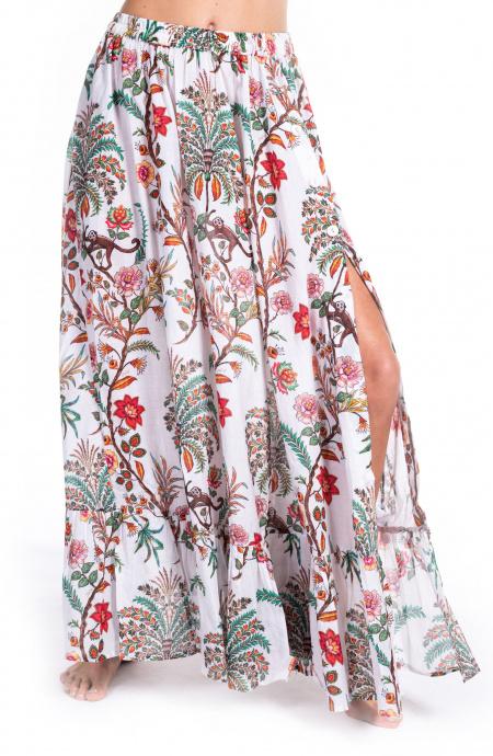 Maxi Skirt Indian Print Pin-Up Stars - 9