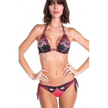 Bikini Triangolo Scorrevole Stampa Patch Slip Brasiliano