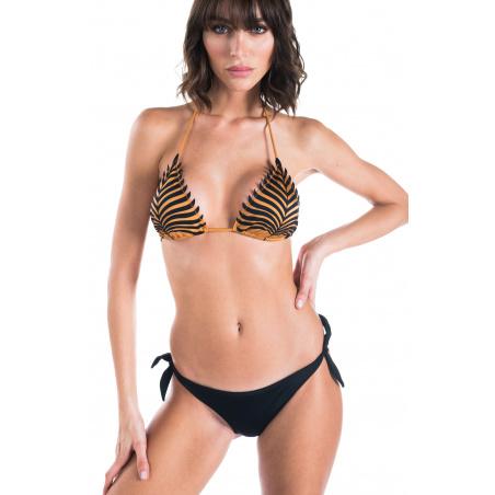 Bikini Triangolo Scorrevole Slip Brasiliano Foglia Laser