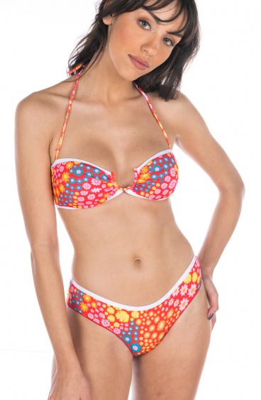 Bikini Fascia Fiorellino Slip Culotte Agogoa - 1