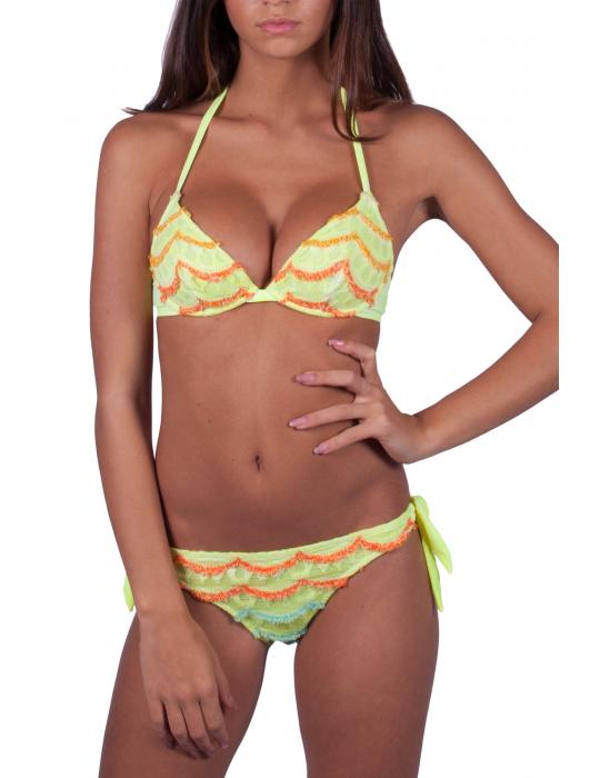 Bikini a Balconcino Pizzo Micro-Ruches