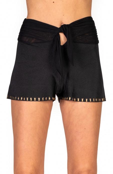 Shorts Ricamo Borchie Pin-Up Stars - 11