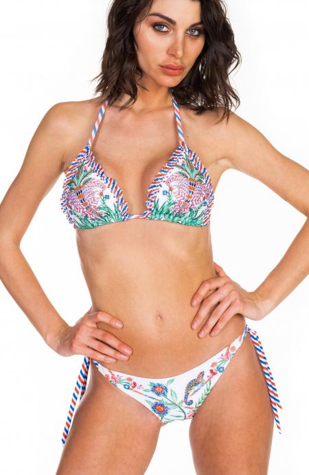 Bikini Triangolo Scorrevole Camaleonte Strass Slip Brasiliano Pin-Up Stars - 7