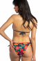 Padded Triangle Bikini Bows Bows Flower Field Glitter Pin-Up Stars - 3