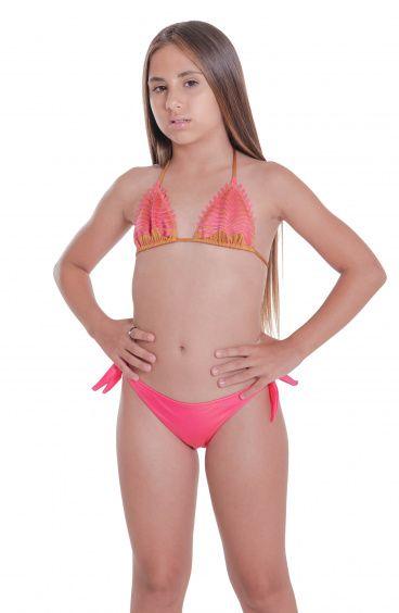 Bikini Triangolo Slip Fiocchi Foglia Laser Pin-Up Stars - 1