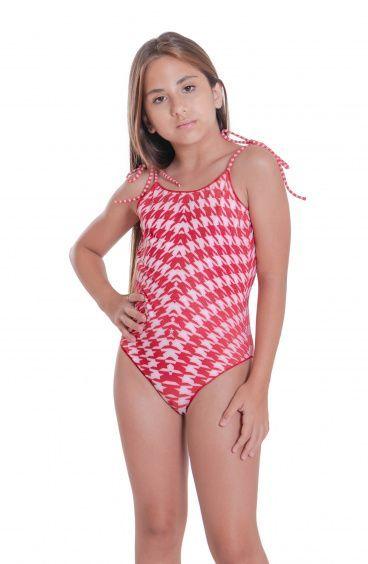 Mini Swimsuit Pied De Poule Pin-Up Stars - 5