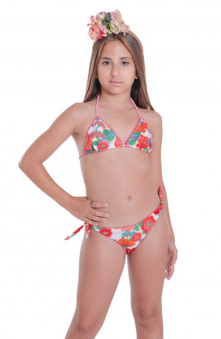 Bikini Triangolo Slip Fiocchi Fiore di Campo Pin-Up Stars - 1