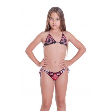 Bikini Triangolo Slip Fiocchi Stampa Patch Mini