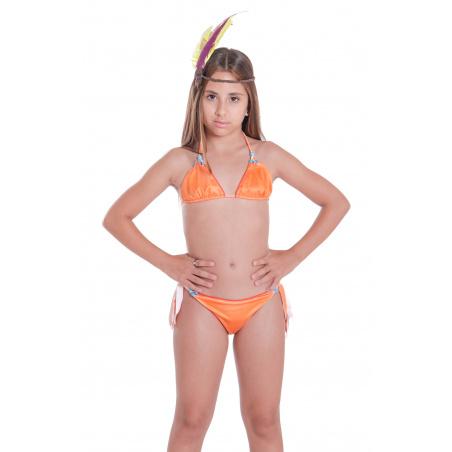 Bikini Triangolo Slip Fiocchi Ricamo Perle Mini