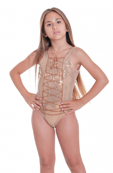Costume Intero Pois in Lamina Mini Pin-Up Stars - 2