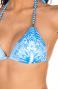 Bikini Triangolo Imbottito Slip Fiocchi Stampa Patch Pin-Up Stars - 14