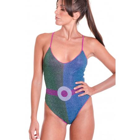 Costume Da Bagno Intero Color Block