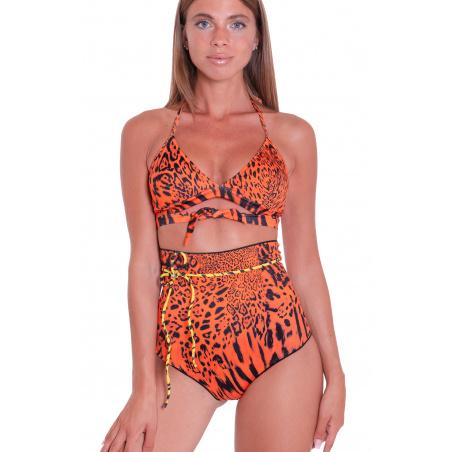 Bikini Brassiere Slip A Vita Alta Animal Colors