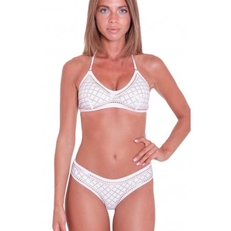 Bikini Fascia Profili Borchie Slip Culotte