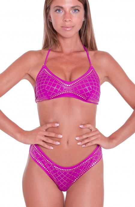 Bikini Fascia Profili Borchie Slip Culotte Agogoa - 12