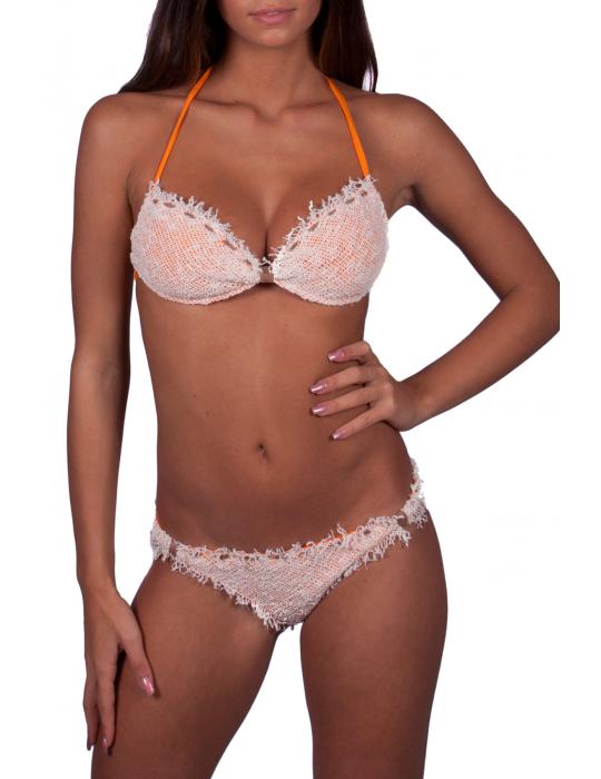 Bikini a fascia garza rete