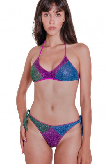 Bikini Brassiere Slip Fiocchi Color Block Agogoa - 7