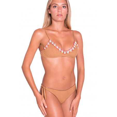 Bikini Brassiere Slip Brasiliana Ricamo Conchiglie