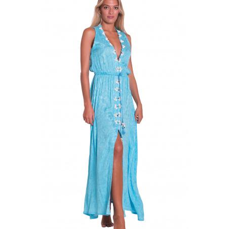Long Dress Ricamo Conchiglie