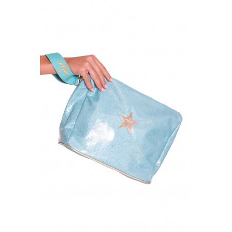 Iridescent Ecoleather Clutch Bag