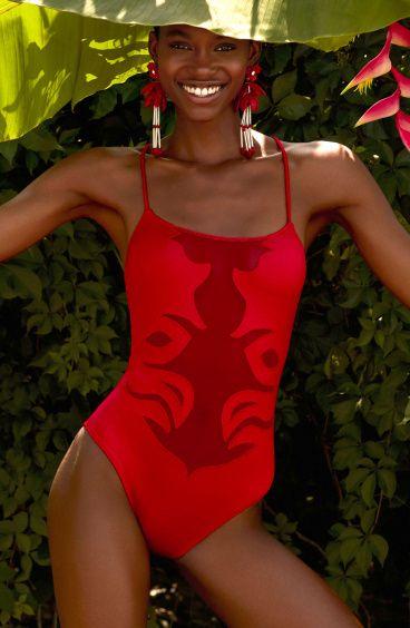 Full Medusa Embroidery Swimsuit Pin-Up Stars - 1