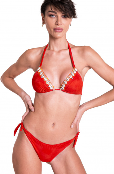 Padded Triangle Bikini Briefs Flakes Shells Pin-Up Stars - 7